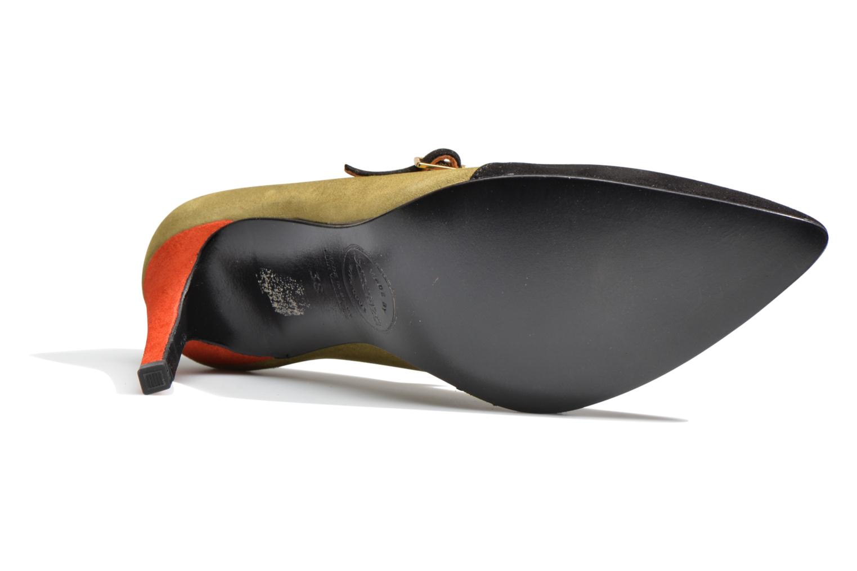 Shoe Officer #11 Ante negro + ante kaky+ charol pied de poule+ ante rouge