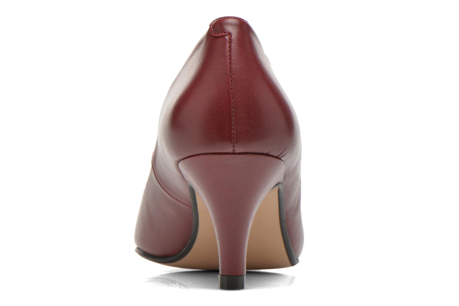 High heels Georgia Rose Sanua Burgundy view from the right