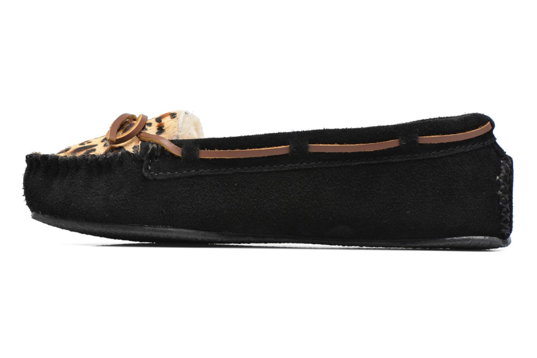 Pantofole Minnetonka Leopard Cally Nero immagine frontale