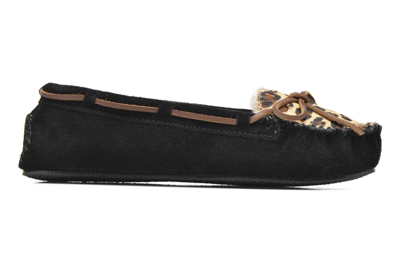 Chaussons Minnetonka Leopard Cally Noir vue derrière