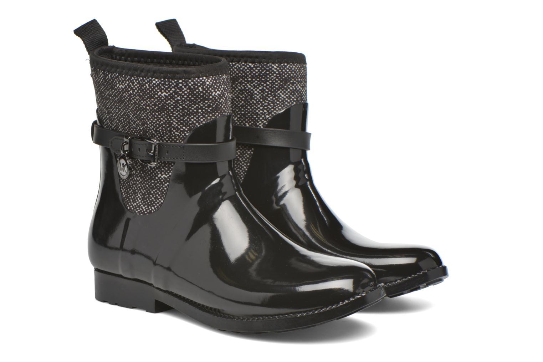 Bottines et boots Michael Michael Kors Charme stretch rain bootie Noir vue 3/4