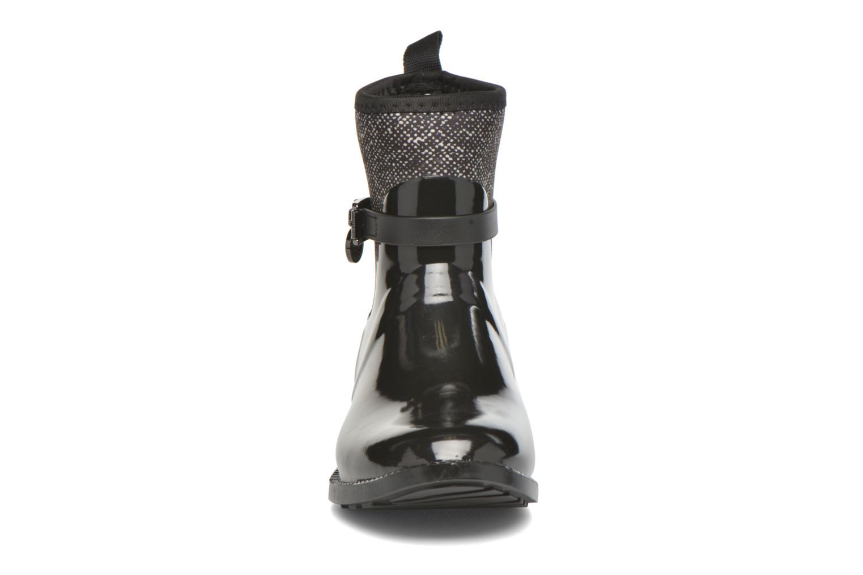 Bottines et boots Michael Michael Kors Charme stretch rain bootie Noir vue portées chaussures