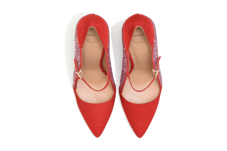 Escarpins SARENZA HAPPY10 Twist and High Rouge vue portées chaussures