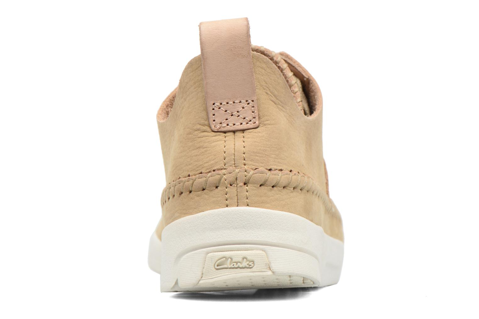 Baskets Clarks Originals Trigenic Flex W Beige vue droite