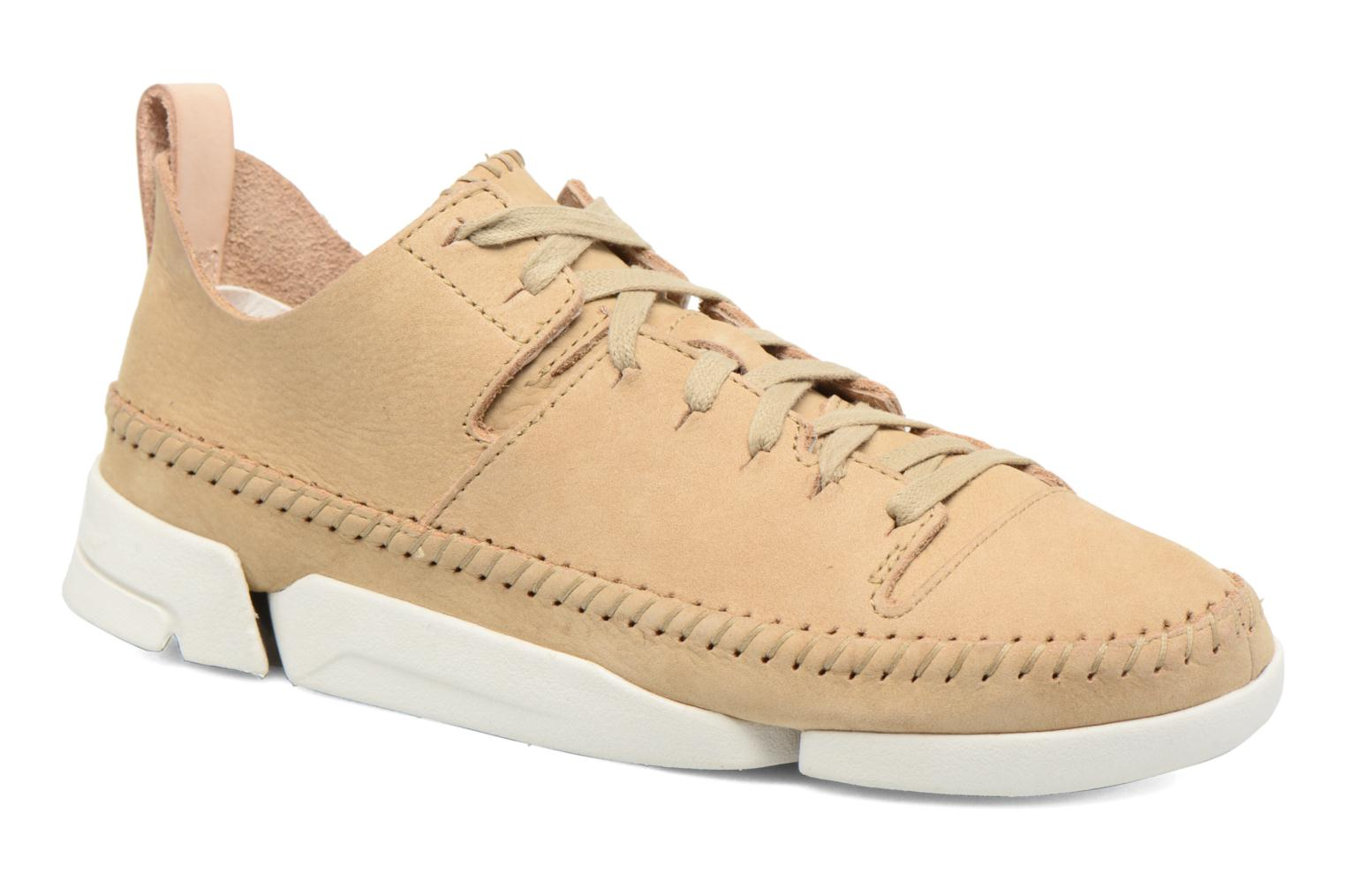 Baskets Clarks Originals Trigenic Flex W Beige vue détail/paire