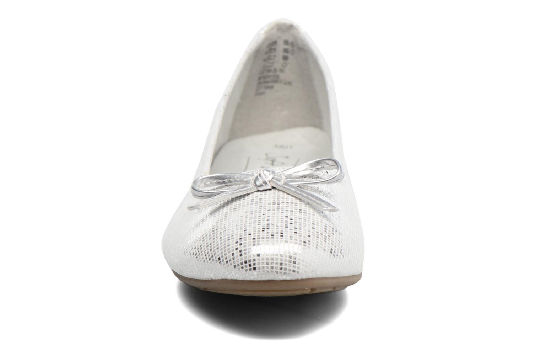 Ballerinas Jana shoes Aciego silber schuhe getragen