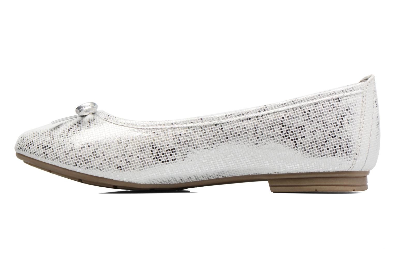 Ballerinas Jana shoes Aciego silber ansicht von vorne