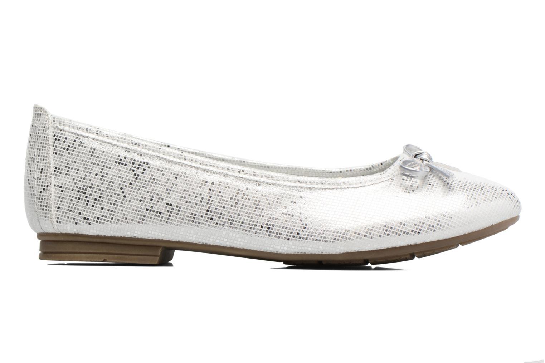 Ballerinas Jana shoes Aciego silber ansicht von hinten