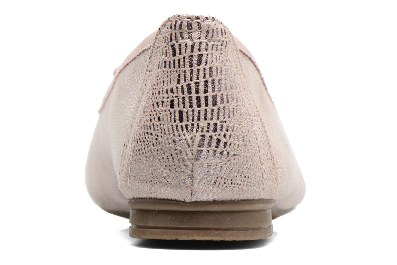 Bailarinas Jana shoes Aciego Rosa vista lateral derecha