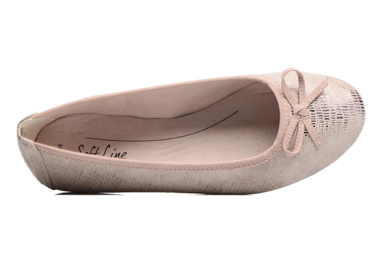 Bailarinas Jana shoes Aciego Rosa vista lateral izquierda