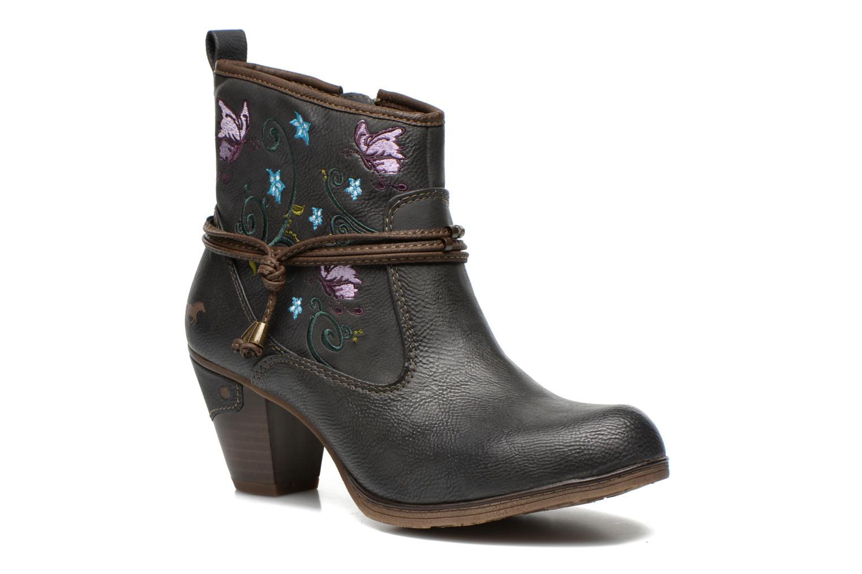 Bottines et boots Mustang shoes Maled Gris vue détail/paire