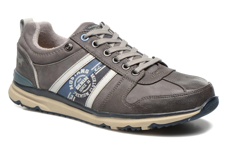 Baskets Mustang shoes Hilim Gris vue détail/paire