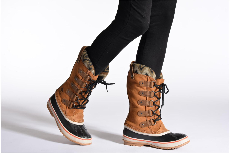 Bottines et boots Sorel Joan of Artic Knit II Marron vue bas / vue portée sac