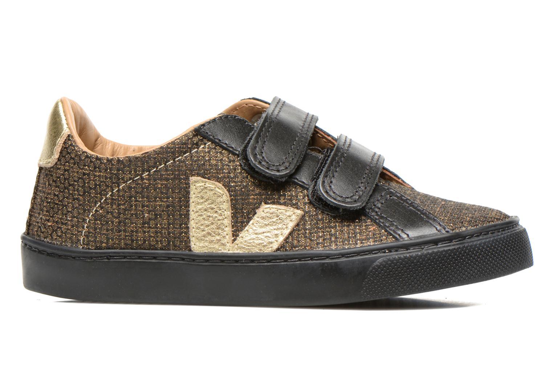 Sneakers Veja Esplar Small Velcro Leather Goud en brons achterkant