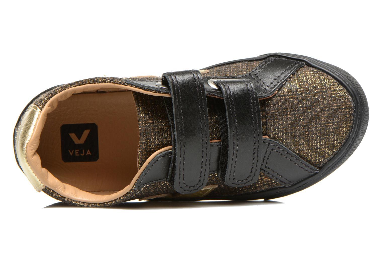 Sneakers Veja Esplar Small Velcro Leather Goud en brons links