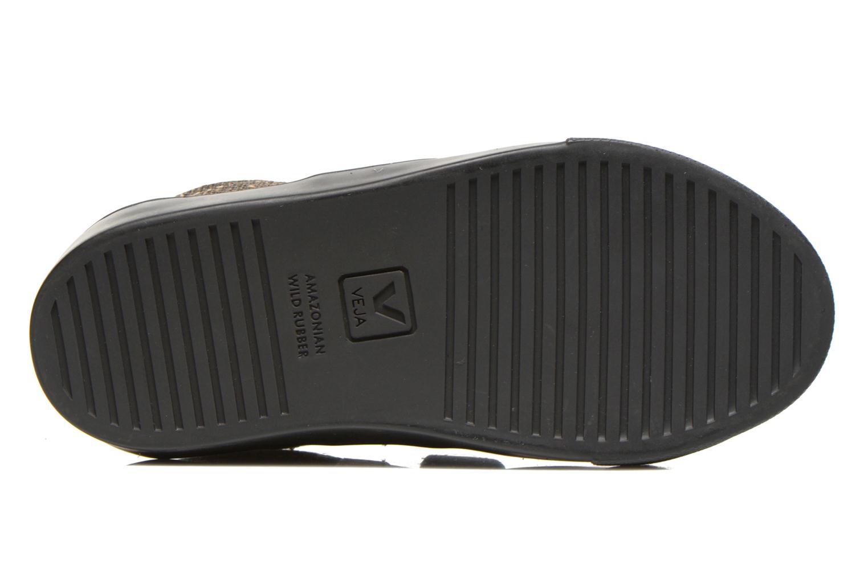 Sneaker Veja Esplar Small Velcro Leather gold/bronze ansicht von oben