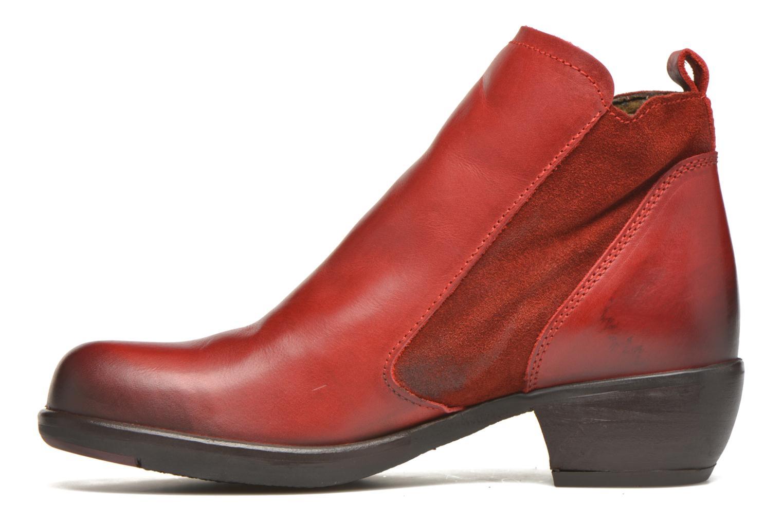 Bottines et boots Fly London Meli Rouge vue face