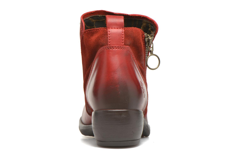 Bottines et boots Fly London Meli Rouge vue droite