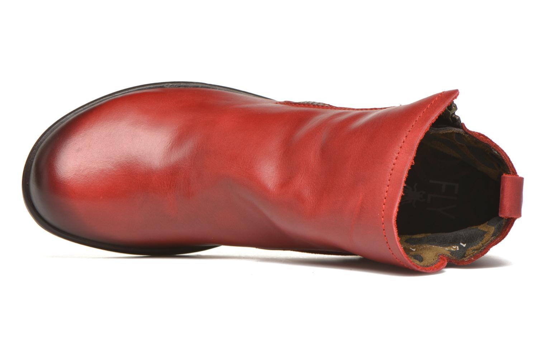 Bottines et boots Fly London Meli Rouge vue gauche