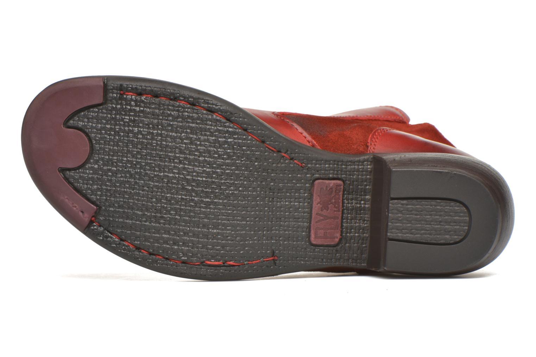 Bottines et boots Fly London Meli Rouge vue haut