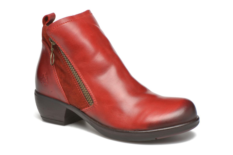 Bottines et boots Fly London Meli Rouge vue détail/paire