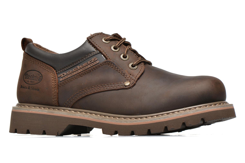 Chaussures à lacets Dockers Vinc Marron vue derrière