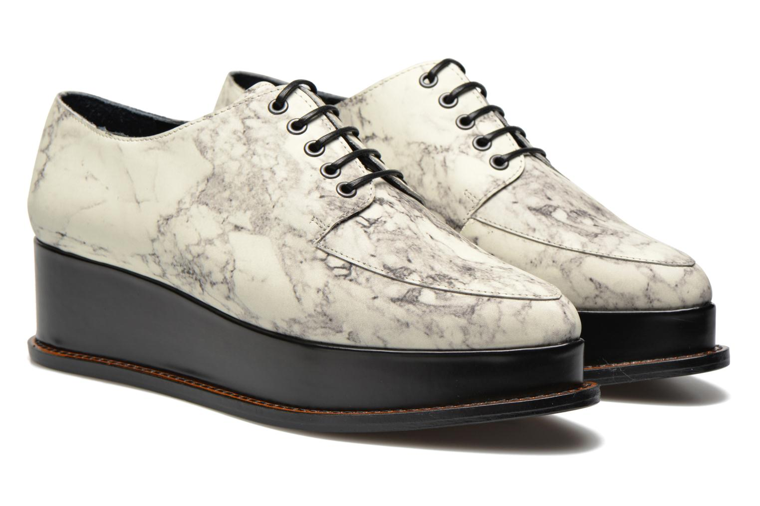 Chaussures à lacets Opening Ceremony Marble Leather Eleanora Platform Multicolore vue 3/4