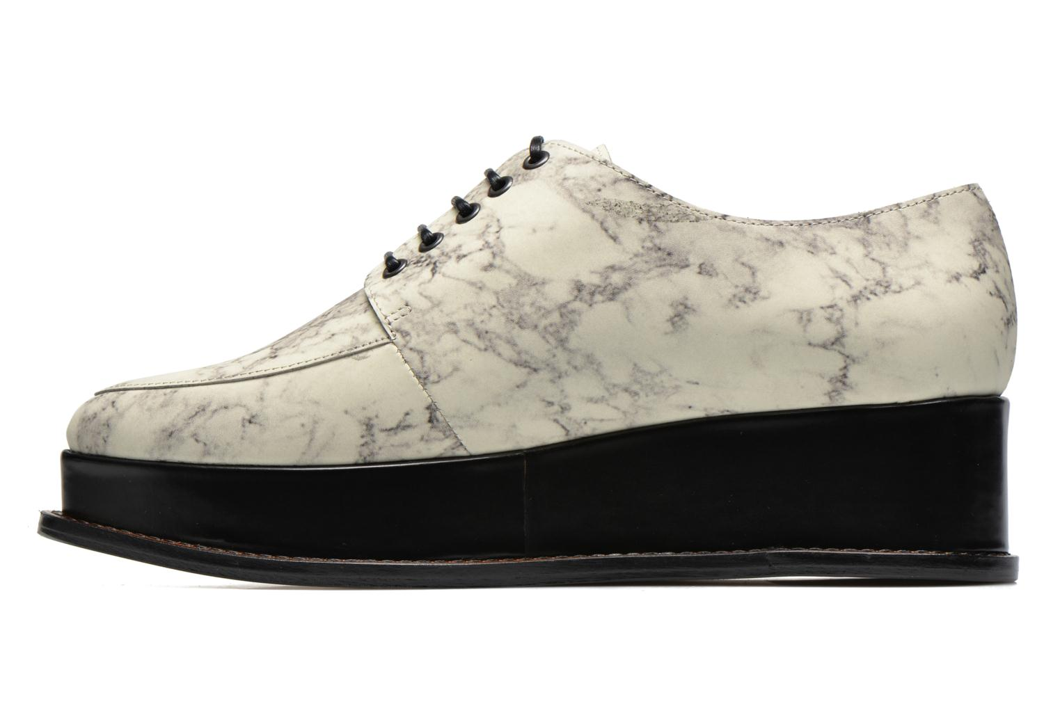 Marble Leather Eleanora Platform Off White Multi 116