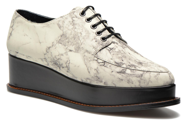 Chaussures à lacets Opening Ceremony Marble Leather Eleanora Platform Multicolore vue détail/paire