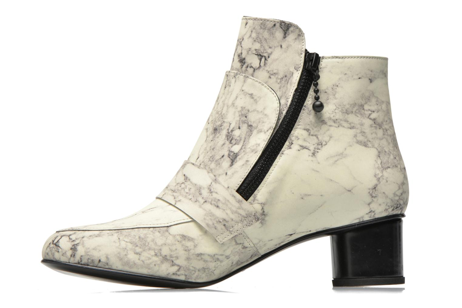 Bottines et boots Opening Ceremony Marble Leather Zan Loafer Bootie Blanc vue face