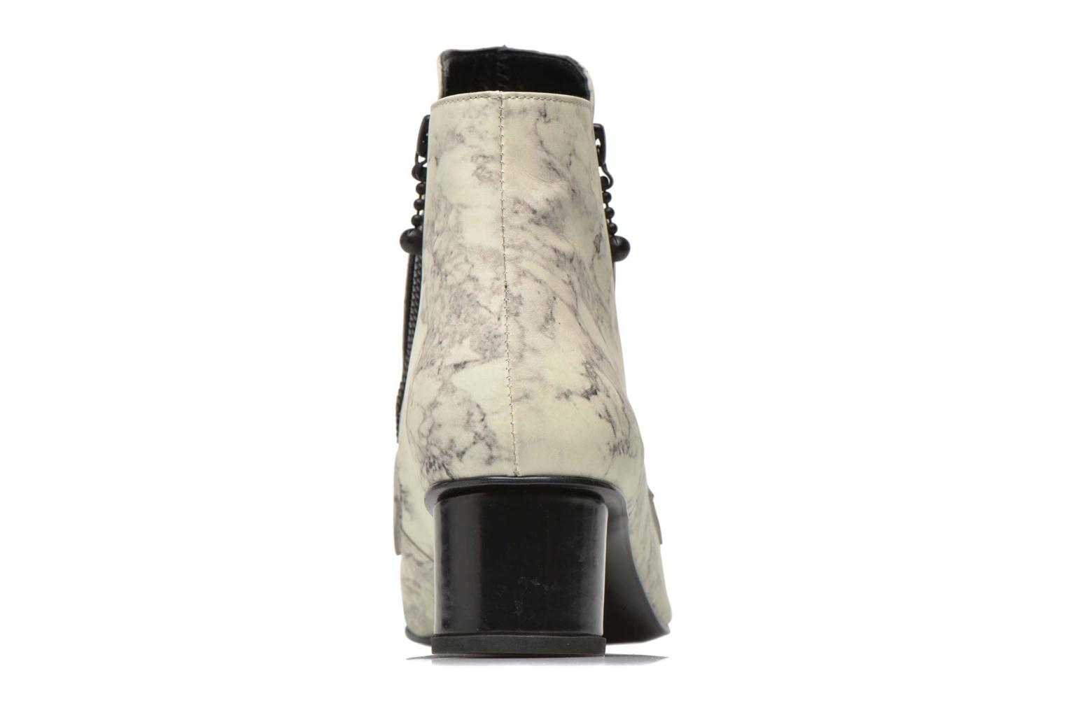 Bottines et boots Opening Ceremony Marble Leather Zan Loafer Bootie Blanc vue droite