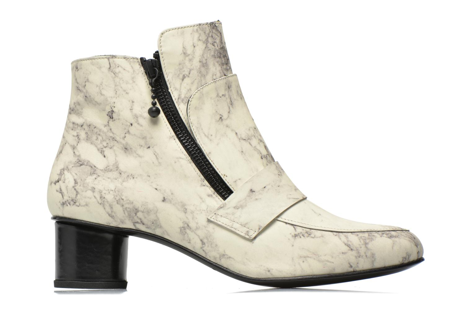 Bottines et boots Opening Ceremony Marble Leather Zan Loafer Bootie Blanc vue derrière