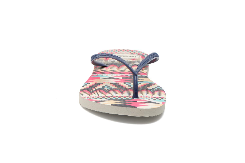 Tongs Havaianas Slim Tribal Multicolore vue portées chaussures
