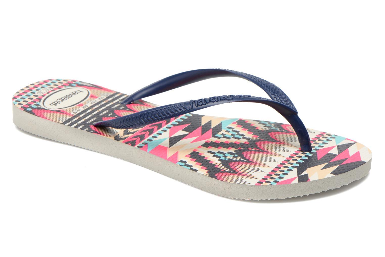 Tongs Havaianas Slim Tribal Multicolore vue détail/paire