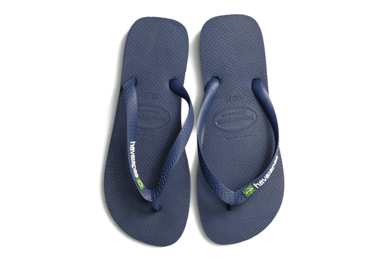 Slippers Havaianas Brasil Logo H Blauw 3/4'