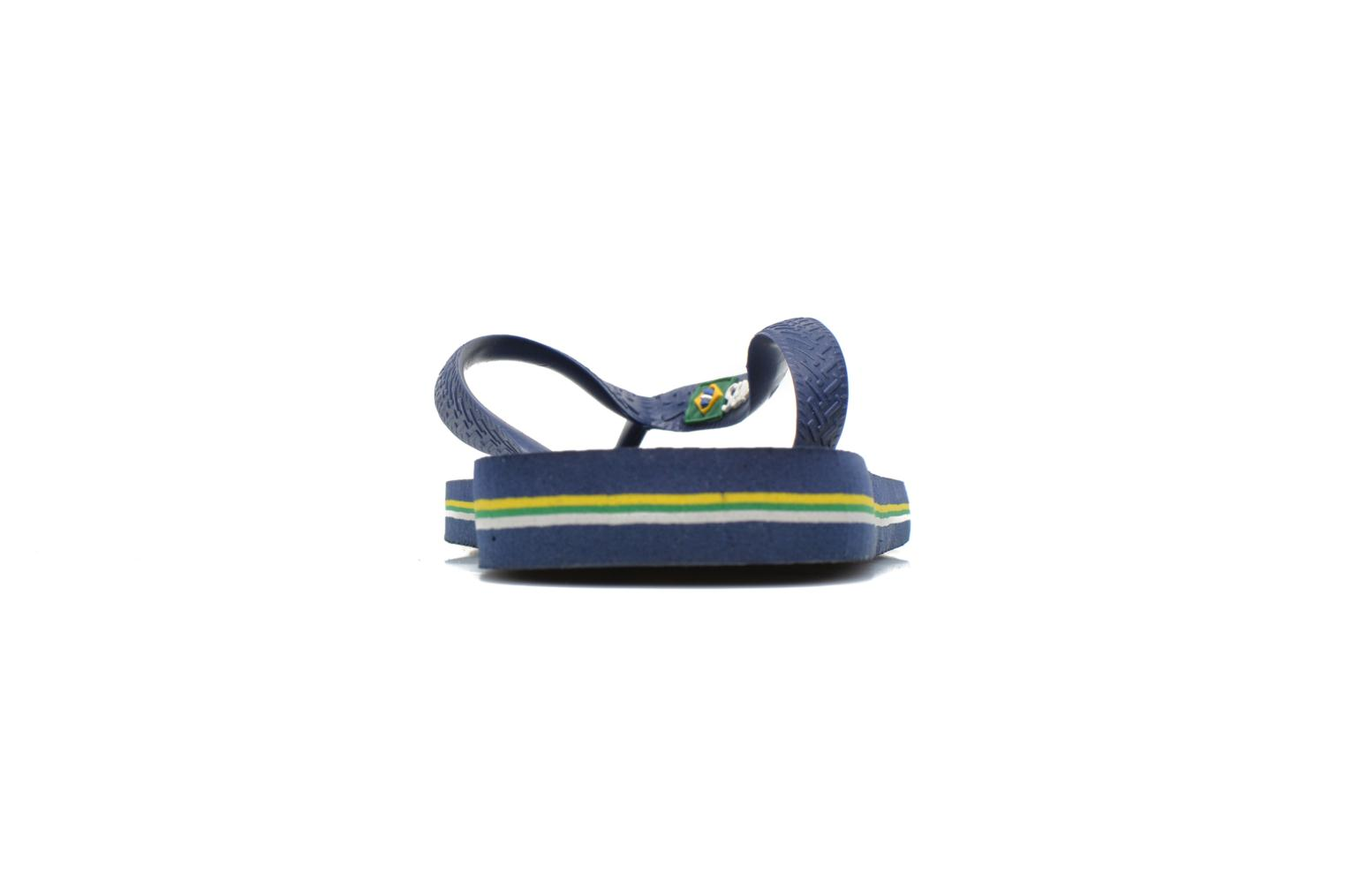 Flip flops Havaianas Brasil Logo H Blue view from the right