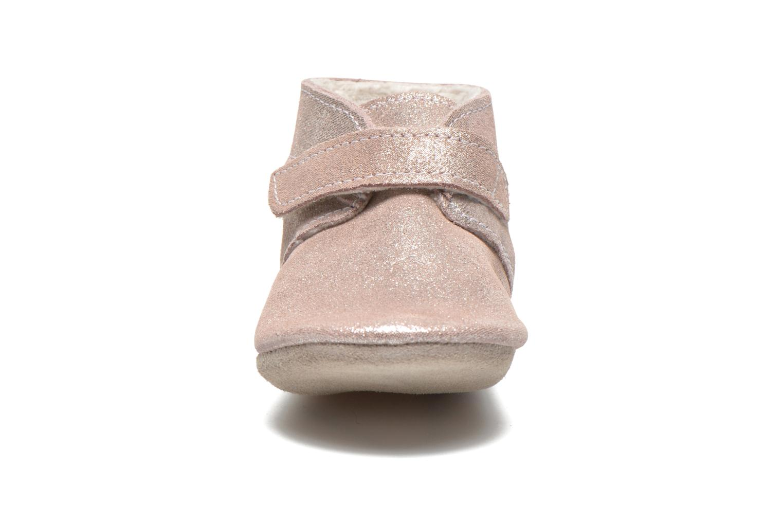 Chaussons Robeez Pole Nord Rose vue portées chaussures