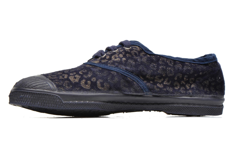 Sneaker Bensimon Tennis Gold Leopard E blau ansicht von vorne