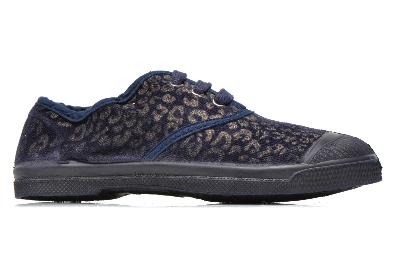 Sneaker Bensimon Tennis Gold Leopard E blau ansicht von hinten