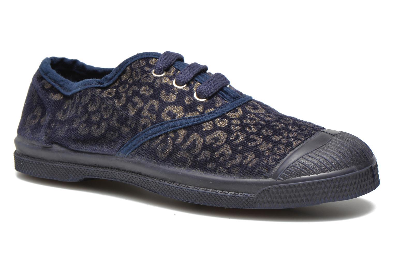 Sneaker Bensimon Tennis Gold Leopard E blau detaillierte ansicht/modell