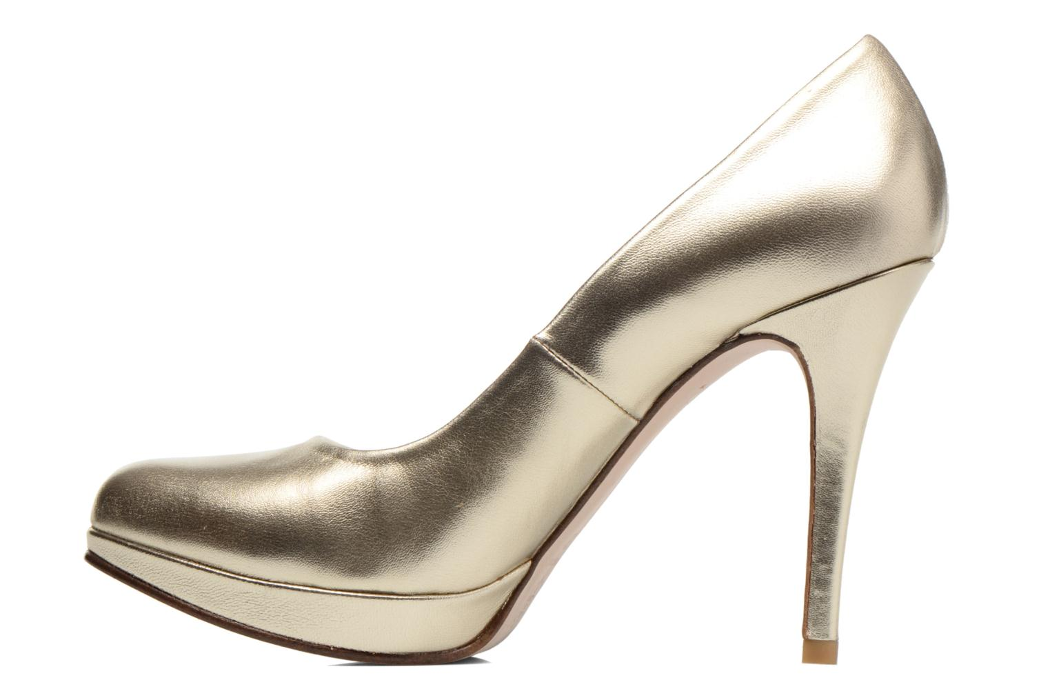 High heels Anna Volodia Copla Bronze and Gold front view