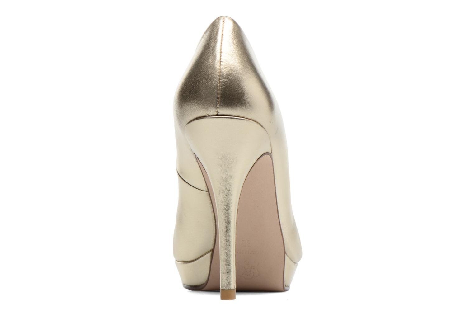 High heels Anna Volodia Copla Bronze and Gold view from the right
