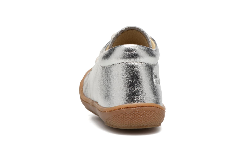 Zapatos con cordones Naturino Cocoon Plateado vista lateral derecha