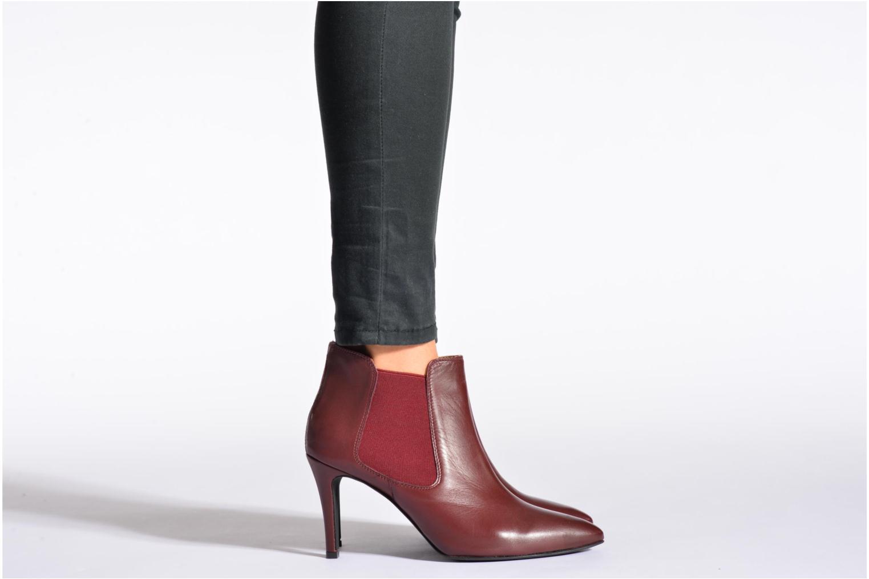 Bottines et boots Georgia Rose Jorosa Bordeaux vue bas / vue portée sac