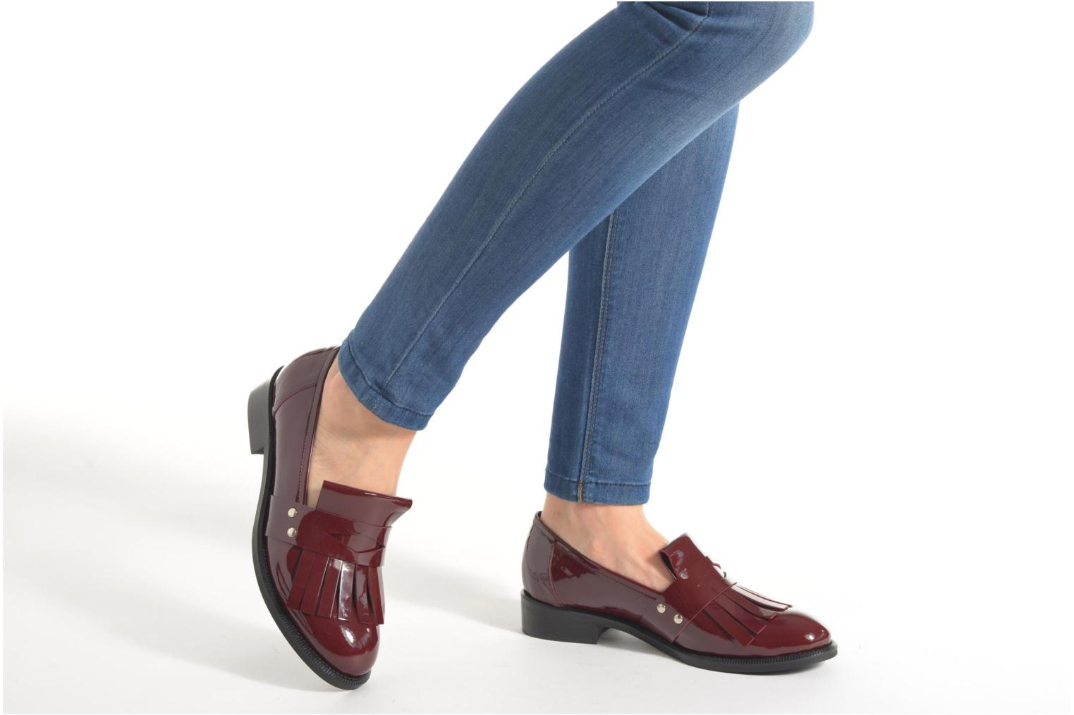 Loafers Made by SARENZA Vegas Lipstick #3 Burgundy view from underneath / model view
