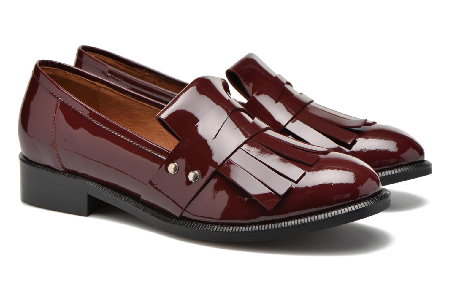 Loafers Made by SARENZA Vegas Lipstick #3 Burgundy back view