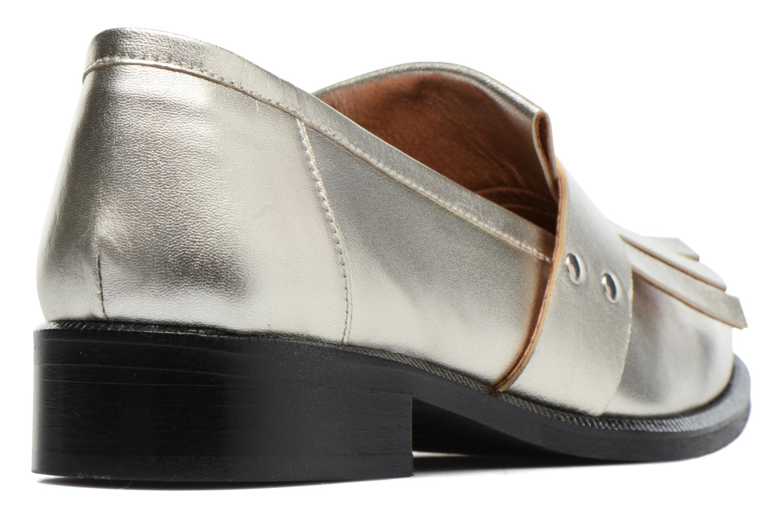 Loafers Made by SARENZA Vegas Lipstick #3 Silver front view