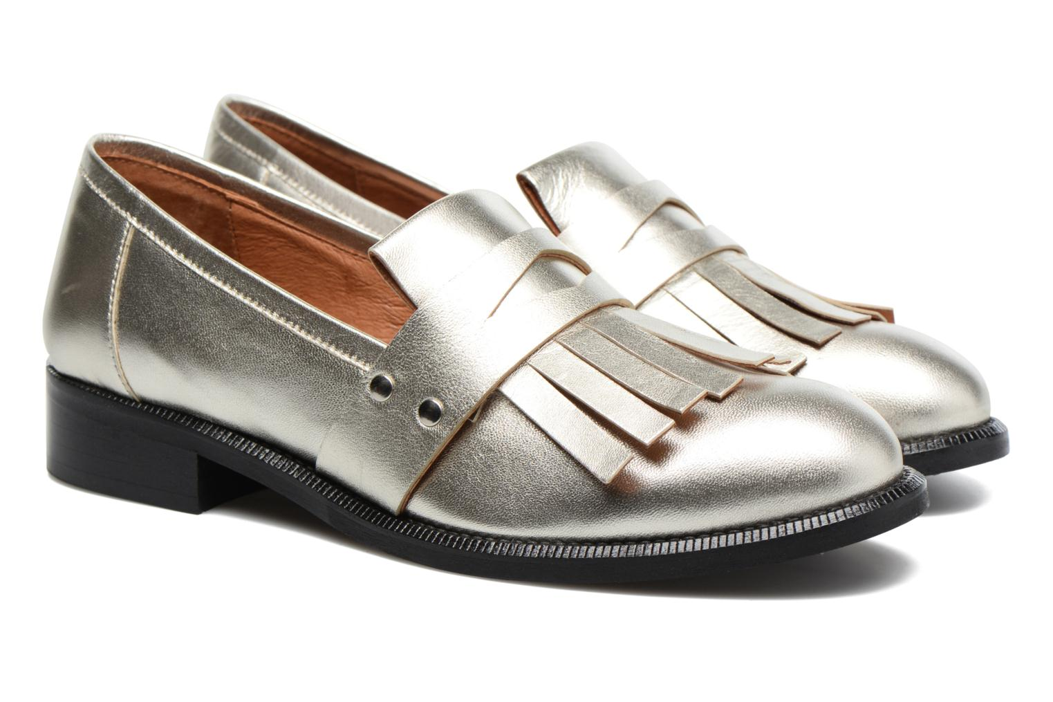Loafers Made by SARENZA Vegas Lipstick #3 Silver back view