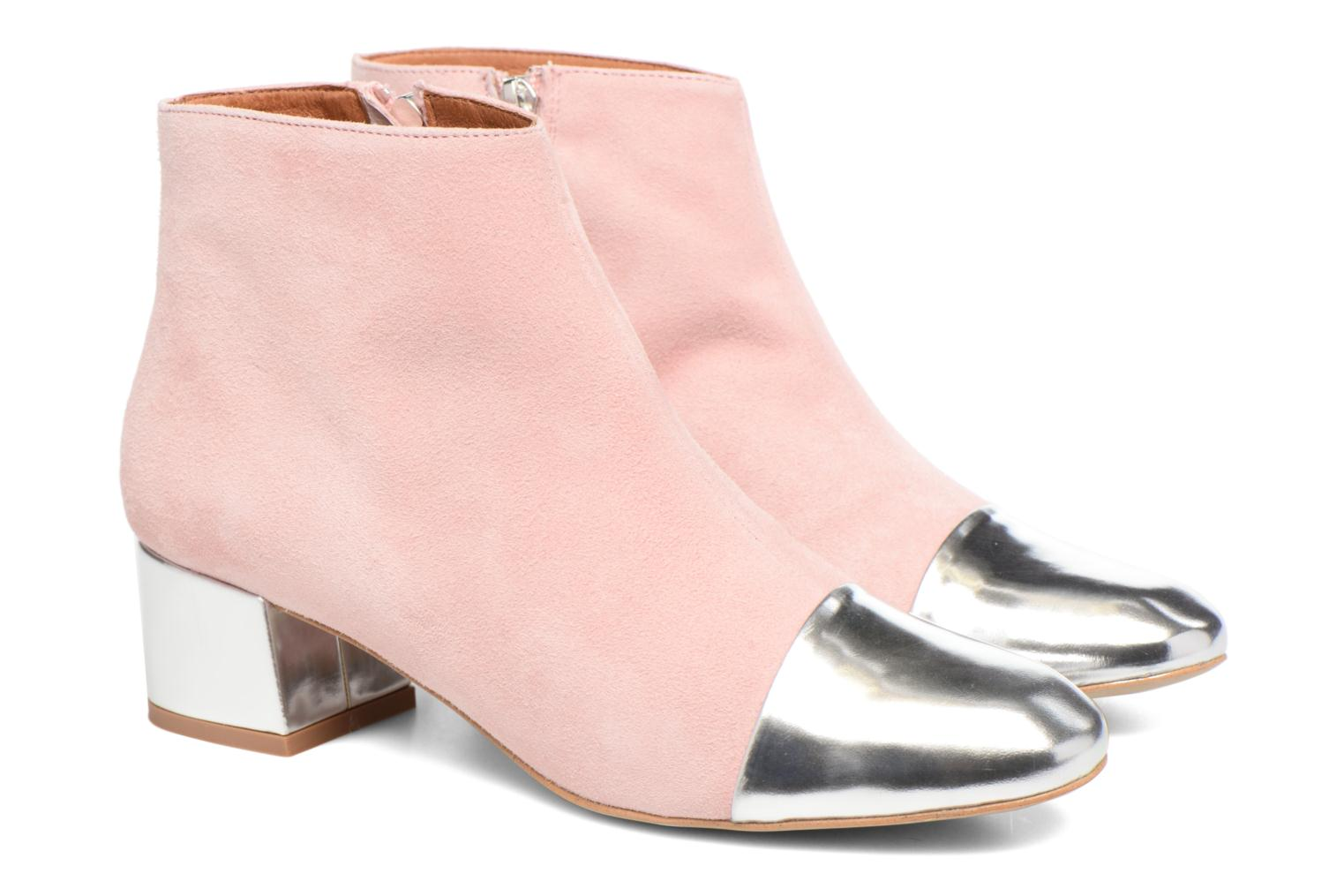 Ankle boots Made by SARENZA Donut hut #7 Pink back view