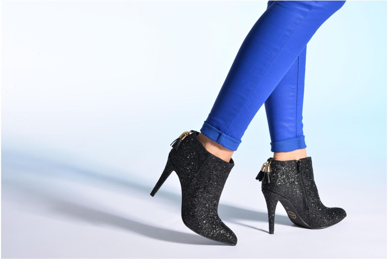 Bottines et boots Made by SARENZA Smoking Simone #5 Noir vue bas / vue portée sac
